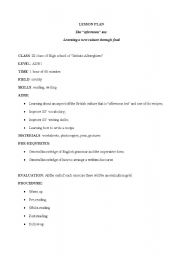 English Worksheet: The �afternoon� tea:Learning a new culture through food