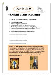 English Worksheet: A Night at the Museum I (movie)