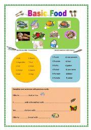 English worksheet: Basic Food