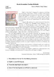 English Worksheets: Who owns English?