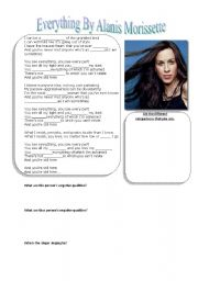 English Worksheets: Everything by Alanis Morissette