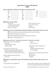 English Worksheets: The Case of the Blue Diamond - Chapter 1