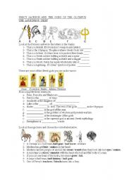 English Worksheets: Percy Jackson - worksheet