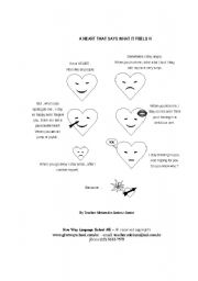 English Worksheets: A Heart