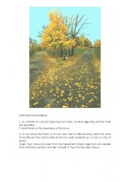English Worksheet: The Road Not Taken - Robert Frost