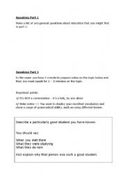 English Worksheet: IELTS Speaking questions - EDUCATION