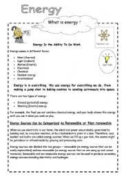 Worksheets Energy Worksheets english worksheet energy and electricity