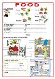 English Worksheet: Food- Meals