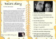 English Worksheet: BELLA CULLEN�S DIARY
