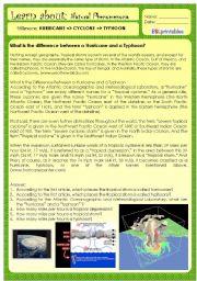 English Worksheets: HURRICANE X TYPHOON X CYCLONE
