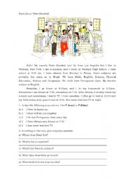 English Worksheets: Peter Marchal�s routine