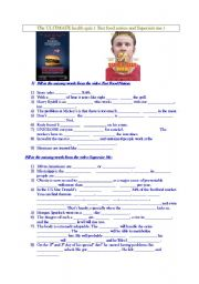 Printables Supersize Me Worksheet Answers english teaching worksheets supersize me quiz on two films fast food nation and level advanced age 14 17 downloads 37