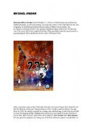 English Worksheets: Michael air Jordan