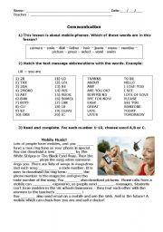 English Worksheets: Communication