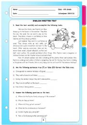English Worksheet: Present Simple, Continuous and Past Simple Revision