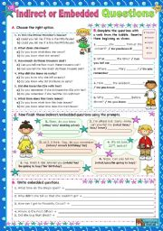 English Worksheets: Indirect or Embedded Questions