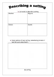 Pictures Setting Worksheets - Studioxcess