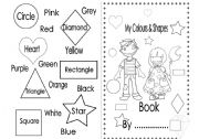 English Worksheet: My Colours and Shapes Book