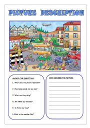 English Worksheet: Picture description 1
