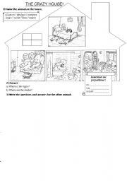 The Crazy House (animals / prepositions)