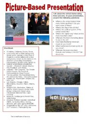 English Worksheet: Picture-based Presentation - The United States