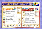 English Worksheets: WHAI�S YOUR FAVOURITE SEASONS? PART2