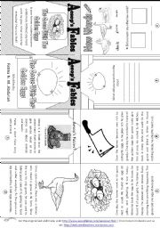English Worksheet: Aesop´s Fables: The Goose with the Golden Eggs [ Mini-book ]