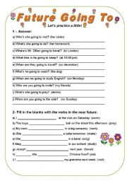 ESL worksheets for beginners: Future Going To