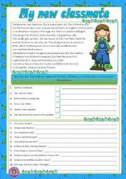 English Worksheets: MY NEW CLASSMATE