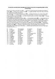 English Worksheet: TOEIC type cloze exercise on Energy