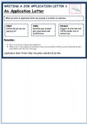 English Worksheets: HOW TO WRITE AN APPLICATION LETTER