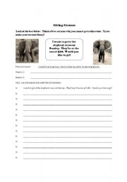 English Worksheets: Giving Excuses