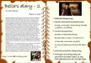 English Worksheets: Bella�s diary 2