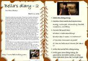 English Worksheet: Bella�s diary 2