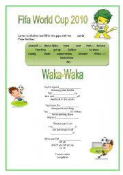 English Worksheet: Waka Waka  Shakira
