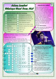 Song: Phrasal Verbs & Past Modals Part 1 - Adam Lambert - Whataya Want From Me