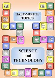 English Worksheet: Science and technology - a boardgame or pairwork (34 questions for discussion)