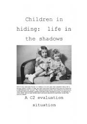 English Worksheets: Life in the shadows