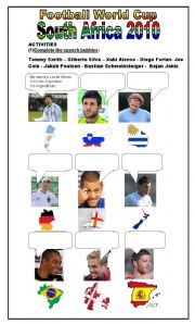 English Worksheet: Football World Cup - South Africa 2010  (2 pages)