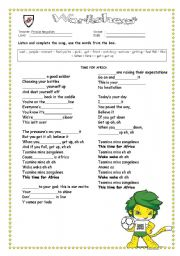 English Worksheet: South africa world cup 2010