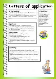 English Worksheets: Letter of application