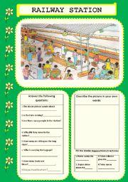 English Worksheets: RAILWAY STATION