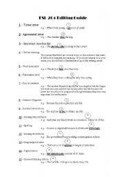 English Worksheets: Editing Guide