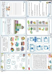 English Worksheets: In town minibook