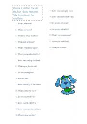 English Worksheets: personal questions