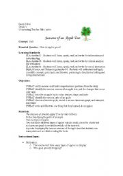 english worksheets seasons of an apple tree lesson plan. Black Bedroom Furniture Sets. Home Design Ideas