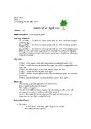 english worksheets seasons of an apple tree lesson plan. Black Bedroom Furniture Sets. Home Design Ideas