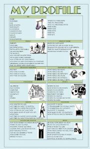 English Worksheet: MY PROFILE
