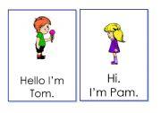 English Worksheets: Greeting flashcards