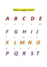 English Worksheets: Spanish to English Phonetics